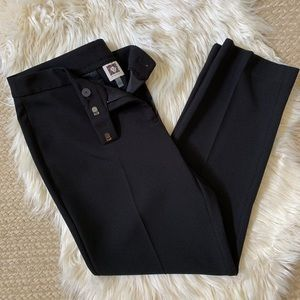EEUC Anne Klein Black Slim Ankle Dress Pants